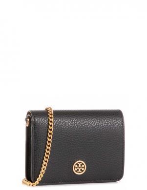 TORY BURCH sieviešu melns soma-maks ar ķēdīti