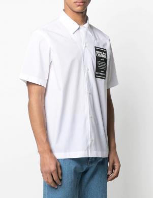 VERSACE JEANS COUTURE vīriešu balts krekls ar īsām piedurknēm