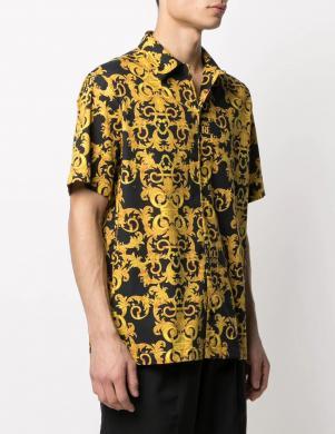 VERSACE JEANS COUTURE vīriešu krāsains krekls ar īsām piedurknēm
