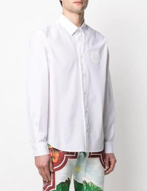 VERSACE JEANS COUTURE vīriešu balts krekls ar garām piedurknēm