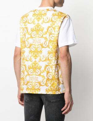 VERSACE JEANS COUTURE vīriešu balts krekls ar uzrakstu un īsām piedurknēm