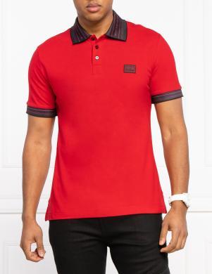VERSACE JEANS COUTURE vīriešu sarkans Polo tipa krekls