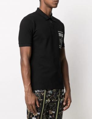 VERSACE JEANS COUTURE vīriešu melns Polo tipa krekls