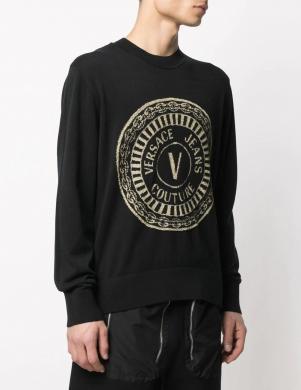 VERSACE JEANS COUTURE vīriešu melns džemperis
