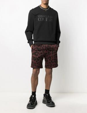 VERSACE JEANS COUTURE vīriešu melns džemperis ar uzrakstu