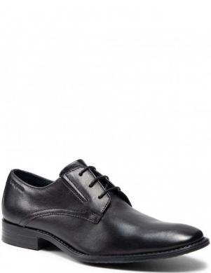 BUGATTI vīriešu melni ādas klasiski apavi Rinaldo