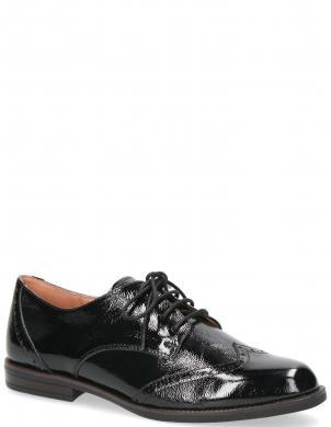 CAPRICE sieviešu melni ādas lakoti klasiski apavi