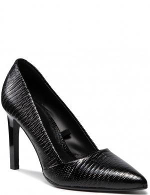 CALVIN KLEIN sieviešu melni ādas eleganti augstpapēžu apavi