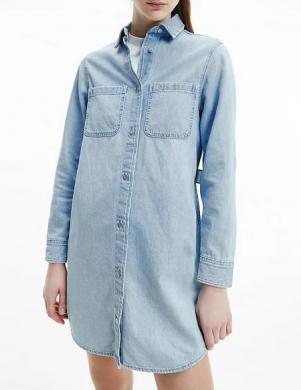CALVIN KLEIN JEANS sieviešu zila kleita