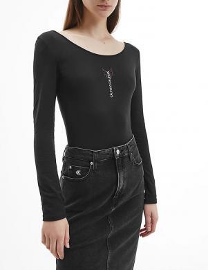 CALVIN KLEIN JEANS sieviešu melns krekls-bodijs