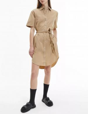 CALVIN KLEIN JEANS sieviešu brūna kleita