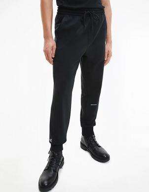 CALVIN KLEIN JEANS vīriešu melnas sporta stila bikses