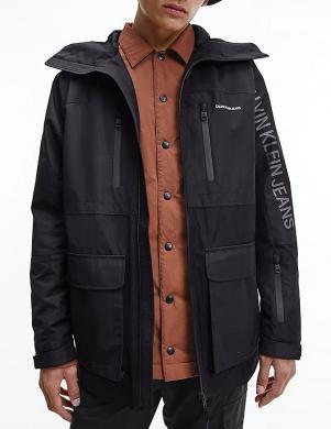 CALVIN KLEIN JEANS vīriešu melna jaka