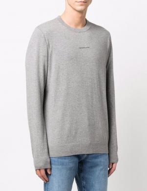 CALVIN KLEIN JEANS vīriešu pelēks džemperis