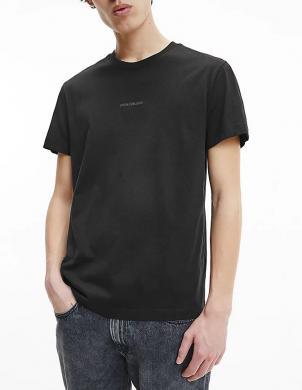 CALVIN KLEIN JEANS vīriešu melns kokvilnas krekls