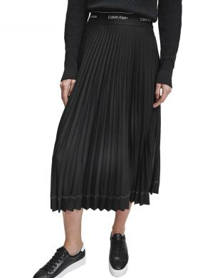 CALVIN KLEIN sieviešu melni plisēti svārki