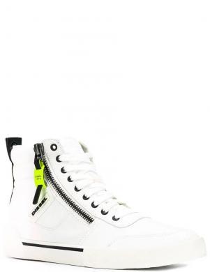 DIESEL vīriešu balti ādas ikdienas apavi-zābaki D-VELOWS