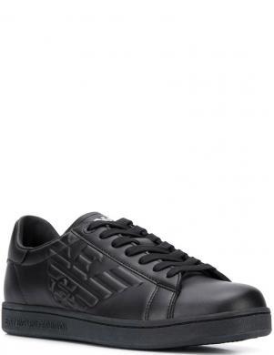 EMPORIO ARMANI vīriešu melni ādas ikdienas apavi CLASSIC NEW CC