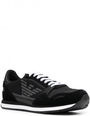 EMPORIO ARMANI vīriešu melni ikdienas apavi