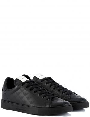 EMPORIO ARMANI vīriešu melni ādas ikdienas apavi