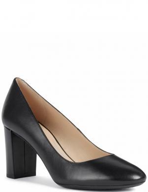 GEOX sieviešu melni ādas augstpapēžu apavi PHEBY 80