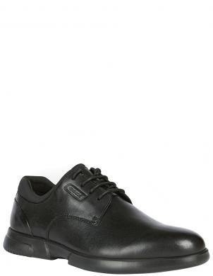 GEOX vīriešu melni ādas klasiski apavi SMOOTHER