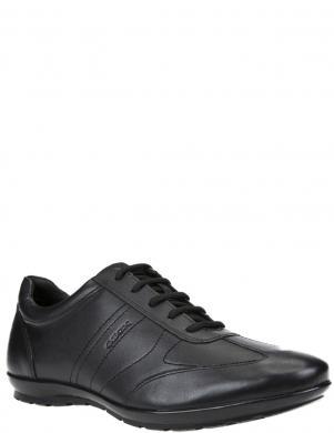 GEOX vīriešu melni ādas ikdienas apavi SYBOL