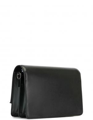 KARL LAGERFELD melna ādas soma pār plecu  K/SIGNATURE SHOULDER