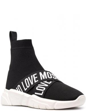 LOVE MOSCHINO sieviešu melni ikdienas apavi-zābaki LOVE MOSCHINO W.SNEAKERS
