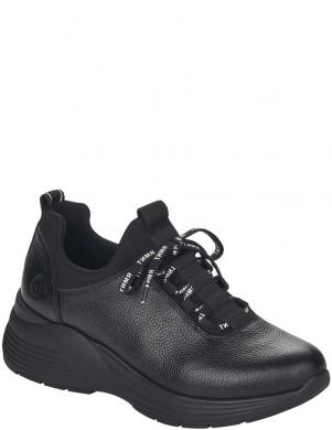 REMONTE sieviešu melni ādas ikdienas apavi ar siltinājumu