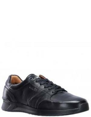 SALAMANDER vīriešu melni ādas ikdienas apavi REVATO