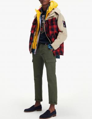 TOMMY HILFIGER vīriešu dažādu krāsu jaka 3IN1 CHECK JACKET