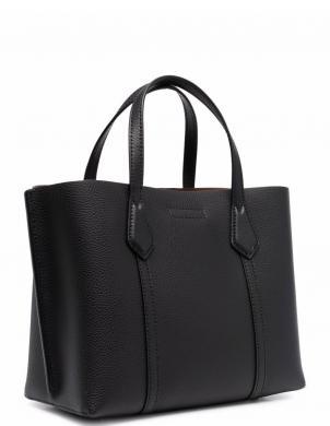 TORY BURCH sieviešu melna ādas soma PERRY SMALL TRIPLE-C