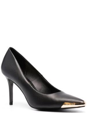 VERSACE JEANS COUTURE sieviešu melni ādas klasiski apavi ar papēdi FONDO SCARLETT DIS.