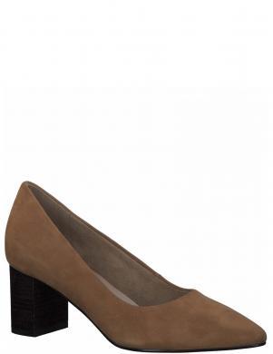 TAMARIS sieviešu brūni zamšādas augstpapēžu apavi PUMPS