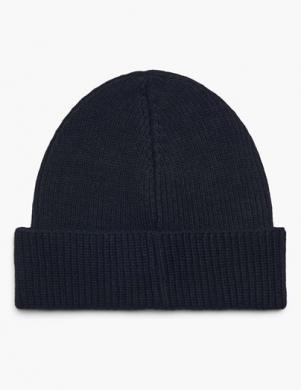 POLO RALPH LAUREN melna vīriešu cepure ar vilnu
