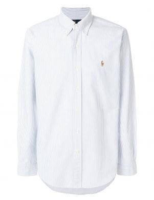 POLO RALPH LAUREN gaiši zils svītrains vīriešu krekls