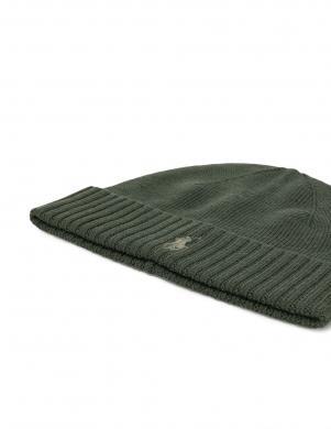 POLO RALPH LAUREN zaļa vīriešu vilnas cepure