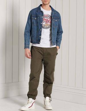 SUPERDRY vīriešu pelēks kokvilnas krekls VINTAGE LOGO ITAGO T-SHIRT