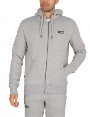SUPERDRY vīriešu pelēks džemperis ar kapuci OL CLASSIC ZIP HOOD SWEATER