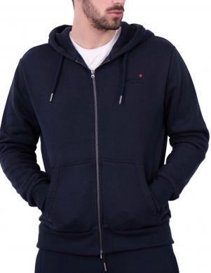 SUPERDRY vīriešu tumši zils džemperis ar kapuci OL CLASSIC ZIP HOOD SWEATER