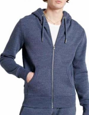 SUPERDRY vīriešu tumši zils džemperis ar kapuci un rāvējslēdzēju OL CLASSIC ZIP HOOD IN RUST