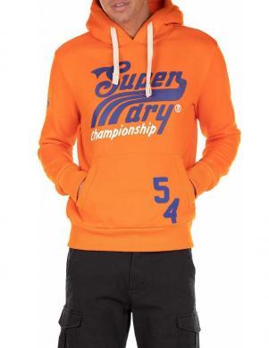 SUPERDRY vīriešu oranžs džemperis ar kapuci COLLEGIATE GRAPHIC OVERHEAD HOODIE