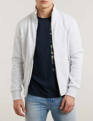 SUPERDRY vīriešu pelēks ar aizdari džemperis ar augstu apkakli OL CLASSIC ZIP HOOD SWEATER