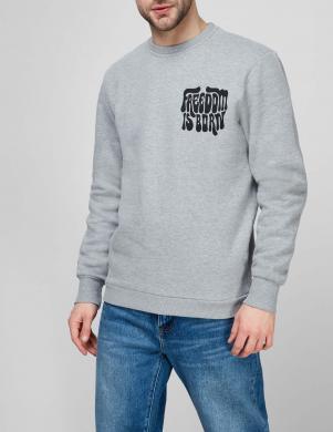 SUPERDRY vīriešu pelēks sporta džemperis MILITARY NON BRAND SWEATSHIRT