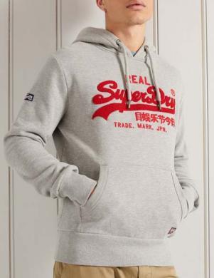 SUPERDRY vīriešu pelēks džemperis ar kapuci VL CHENILLE HOOD