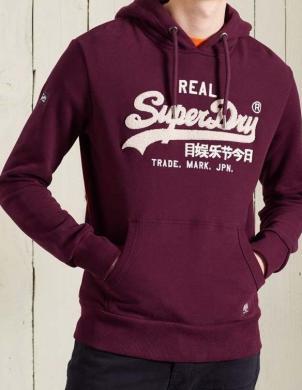 SUPERDRY vīriešu bordo džemperis ar kapuci VL CHENILLE HOOD