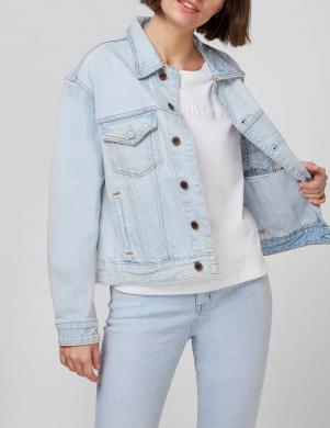 SUPERDRY sieviešu gaiši zila džinsa jaka BASIC W BOYFRIEND TRUCKER JACKET