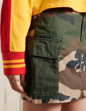 SUPERDRY sieviešu krāsaini mini svārki STRAIGHT CARGO SKIRT