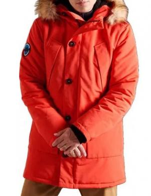SUPERDRY vīriešu oranža jaka EVEREST PARKA